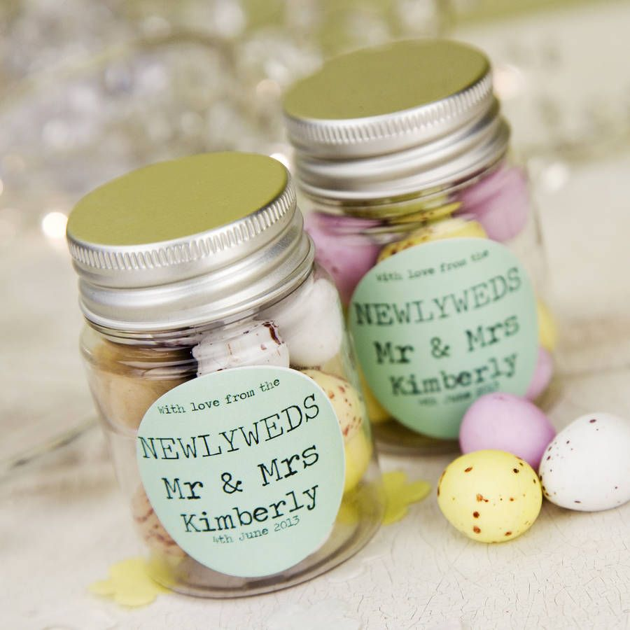Are You Interested In Our Wedding Favour Sweetie Jar With Personalised Jars