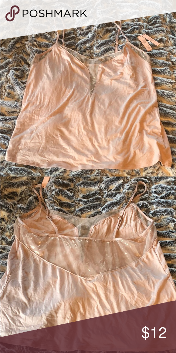 12ff8d15d37c0 Victoria's Secret Cami Top with Shimmering Mesh Brand new shine ...