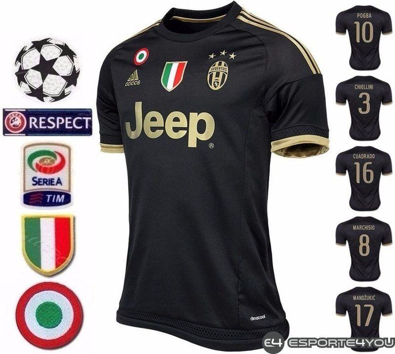 CAMISA JUVENTUS (ITÁLIA) - UNIFORME 3 2015/2016 - Esporte4you - Esporte Para