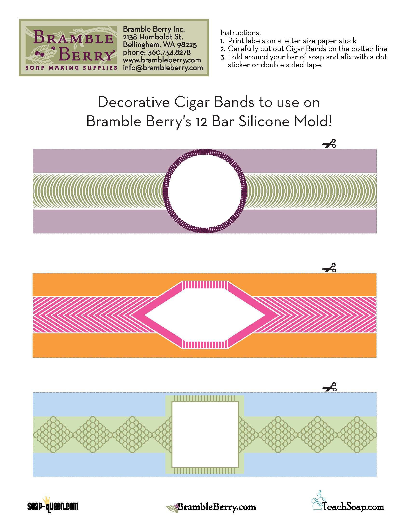 Use our free label file to print out and make your own cigar