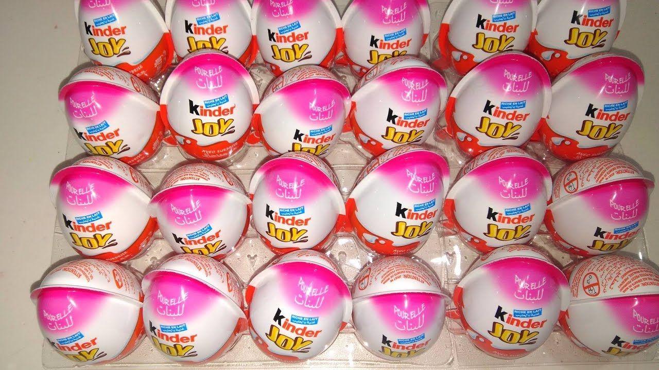 25 بيضة كندر جوي مفاجآت العاب بنات فقط العاب عبير Kinder Joy Surprise Eggs Hello Kitty Cake Best Kids Toys