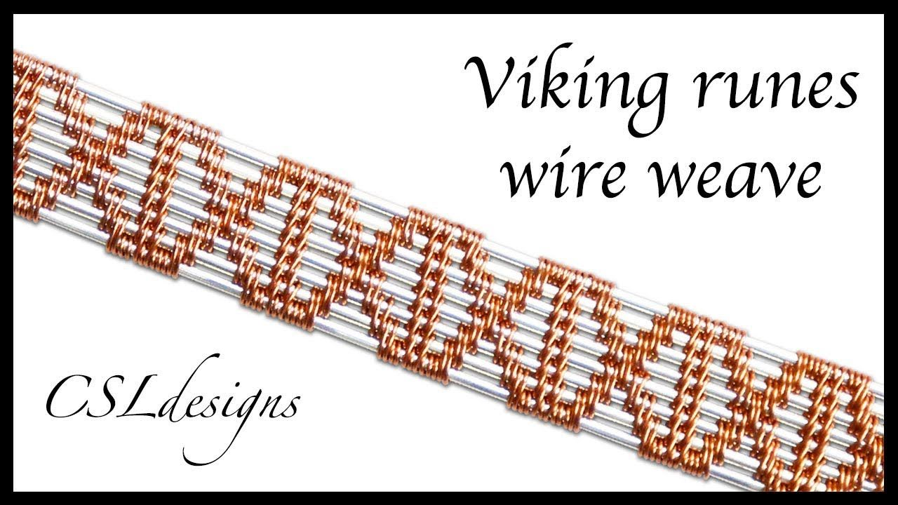 Viking runes wire weave ⎮ Wire weaving series | Wire Jewelry ...