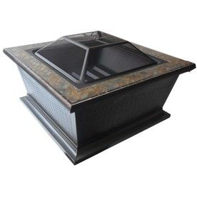 Allen Roth 36 In W Rubbed Bronze Steel Wood Burning Fire Pit