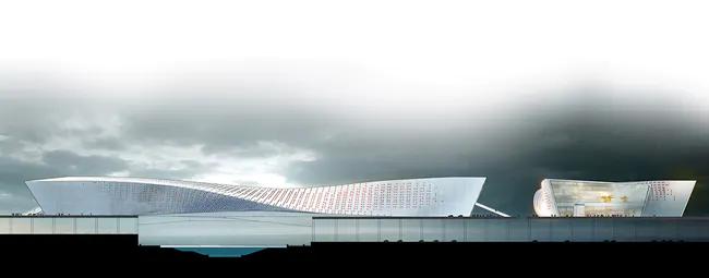 Photo of Liantang / Heung Yuen Wai Boundary Control Point Passenger Terminal Proposal by WAU Design