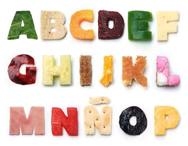 typography food