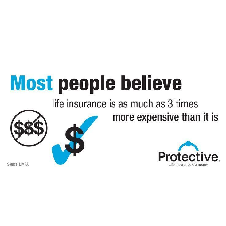 Most people believe life insurance is as much as three
