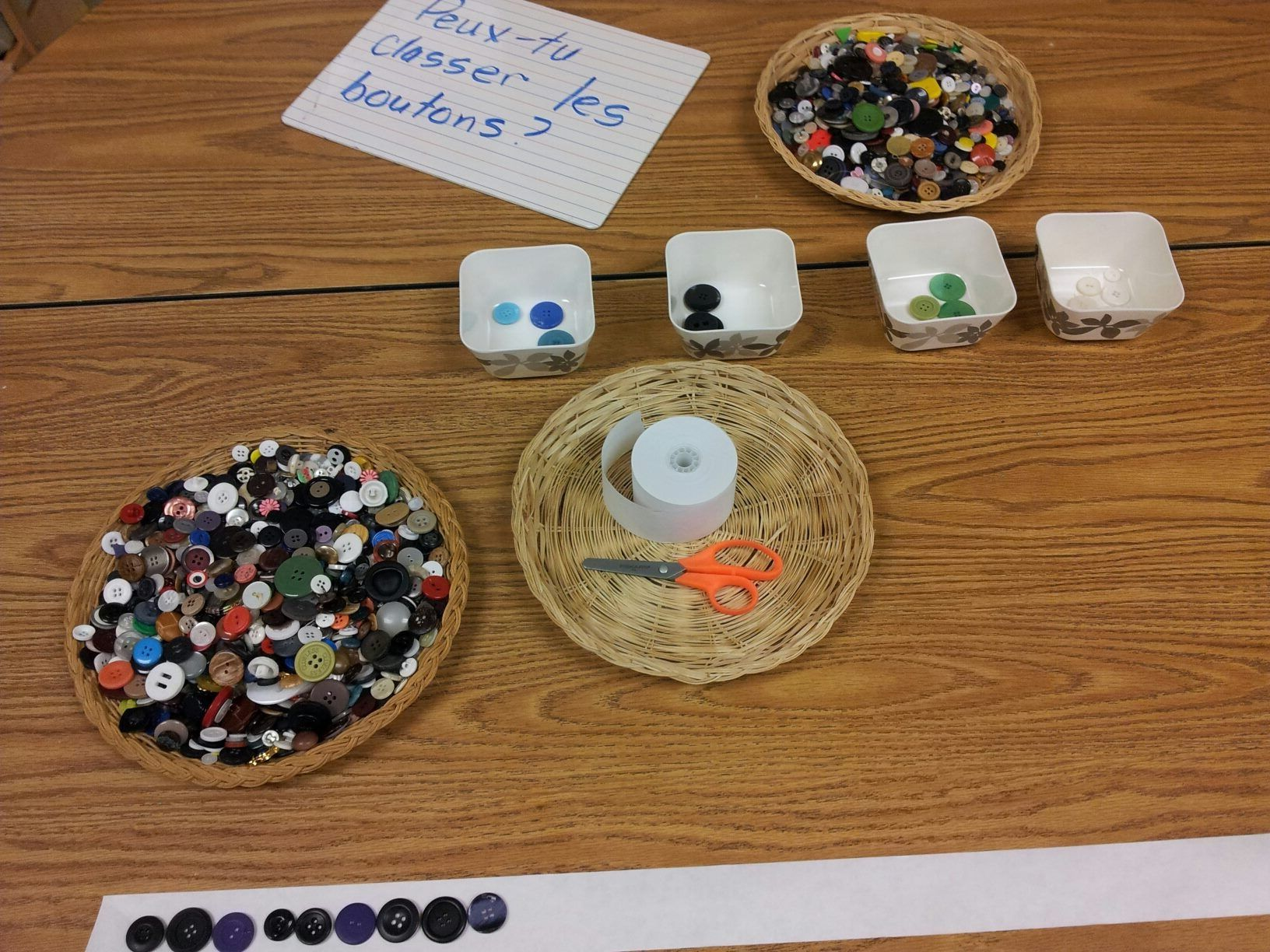 Button Sorting And Patterning Provocation