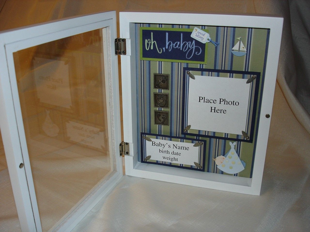 baby shadow boxes | Oh Baby Baby Boy Shadow Box Frame by maknight on ...