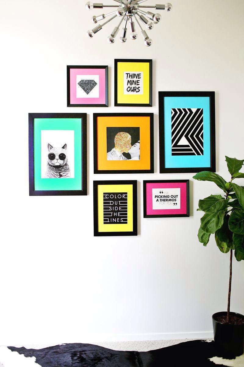 Quadros Coloridos Com Cartolina Quadros Pinterest Quadros  ~ Quadros Para Imprimir Quarto E Piso Em Parede De Quarto