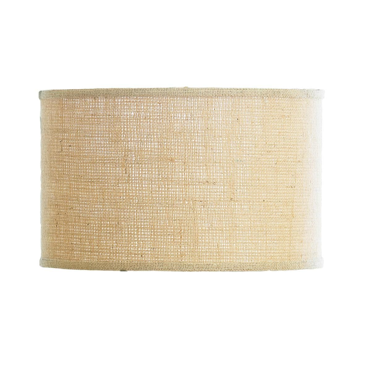 16 Burlap Drum Shade