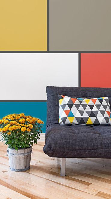 Motifs audacieux couleur Pinterest Bureau, Chambres et Couleurs