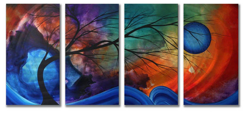 Cosmic collisionu by megan duncanson piece original painting on