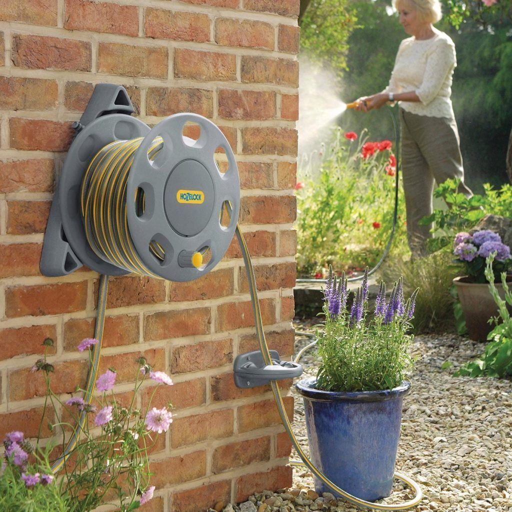 Wall Mounted Garden Hose Reel 50m | Garden Hoses | Pinterest ...