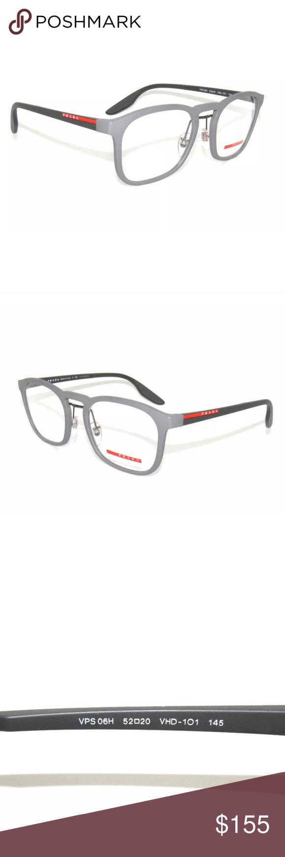 bd391c90e282 Prada Sport Rubber Grey Eyeglasses frame 06H New Authentic Comes with Prada  case Prada Accessories Glasses