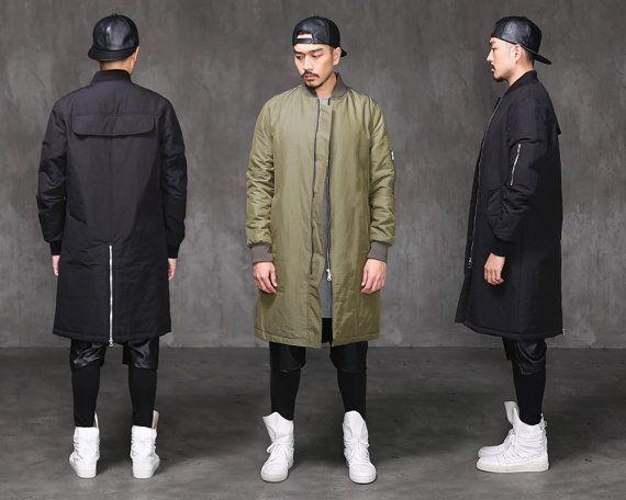 Menswear Project, Bomber Jacket Menswear, Long Bomber Jacket Men ...