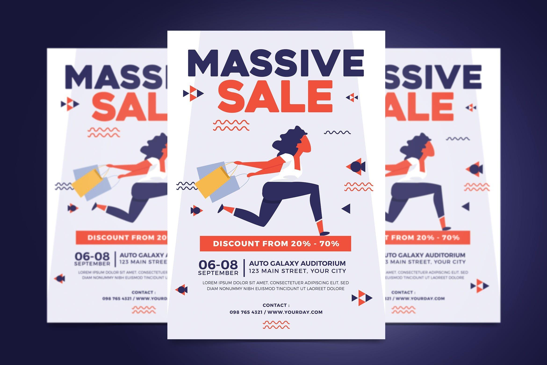 Massive Sale Flyer #sale, #flyer, #event, #party, #discount