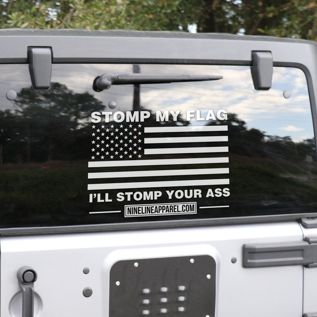 Vinyl Decal Stomp Flags God Bless America And USMC - How to make vinyl decals for clothing
