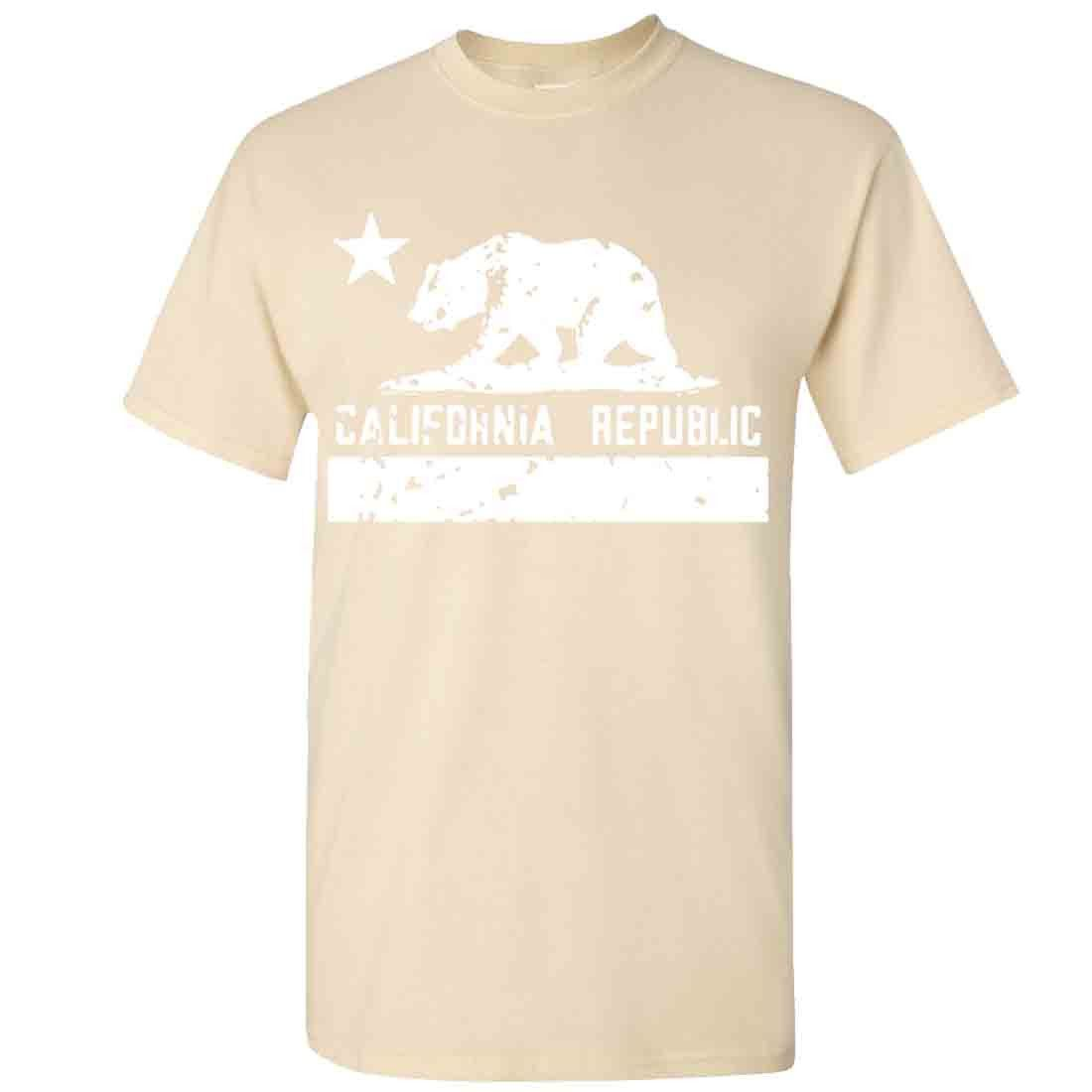 California Flag White Print Silhouette Asst Colors T-shirt