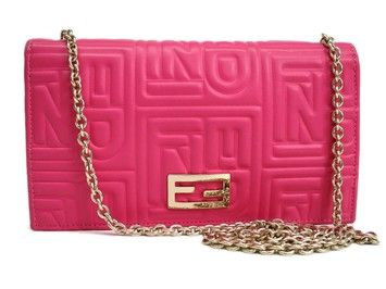 92bab691e1 Get the lowest price on FENDI Wallet on Chain Long Wallet Leather and other  fabulous designer clothing and accessories! Shop Tradesy now