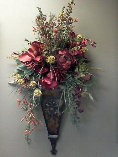 1000+ ideas about Wall Sconces | Flower wall, Floral wall ... on Decorative Wall Sconces For Flowers Arrangements id=58990