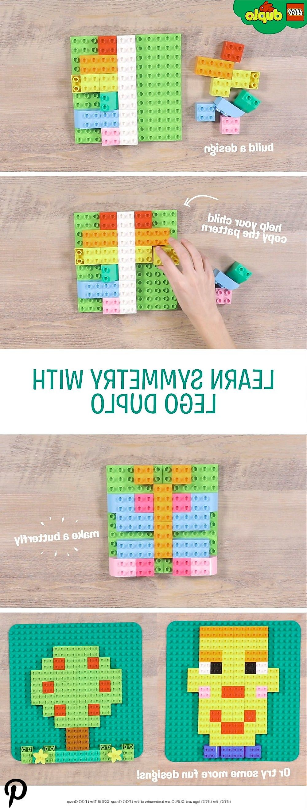 Teach your child about symmetry with this fun and creative copying game. Use LEGO DUPLO baseboards a Teach your child about symmetry with this fun and creative copying game. Use LEGO DUPLO baseboards and bricks to build a pattern coveri…