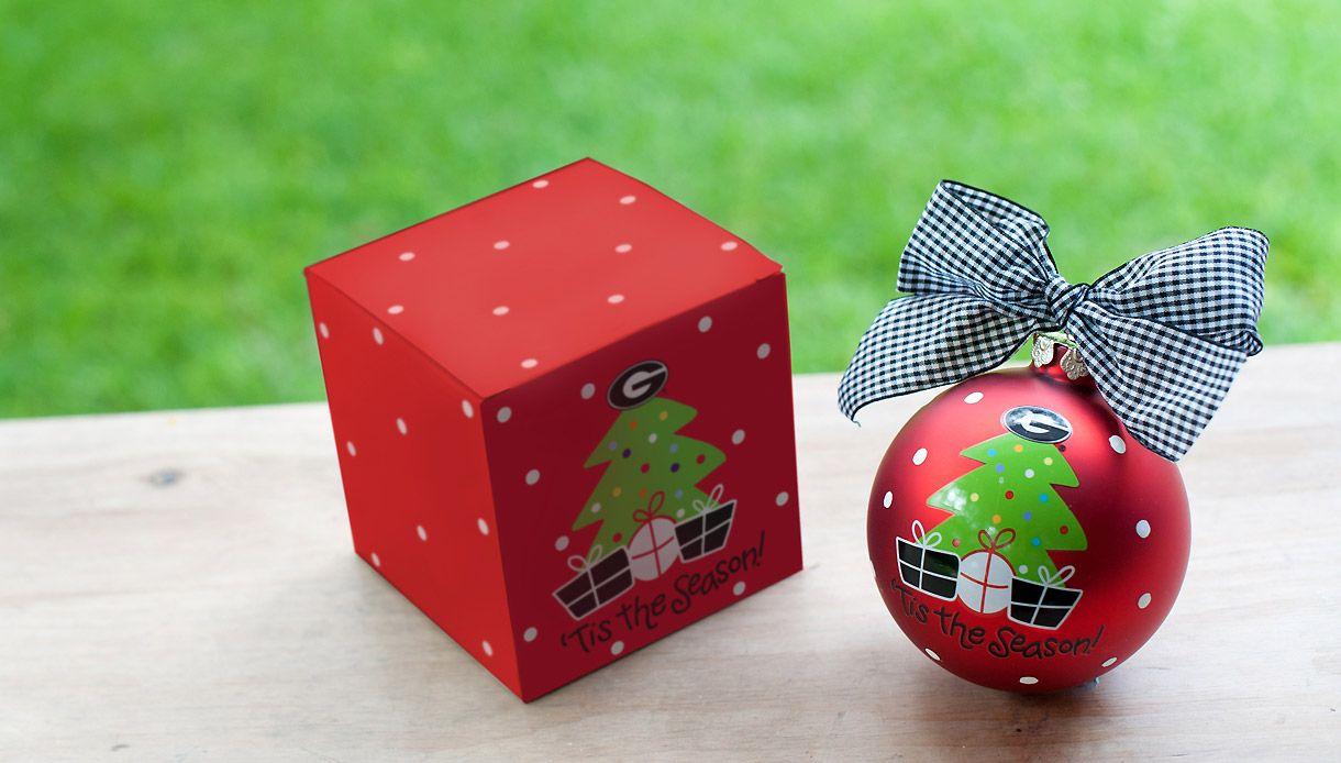 UGA Tree Ornament   Ornaments, Tree ornaments, Christmas ornaments