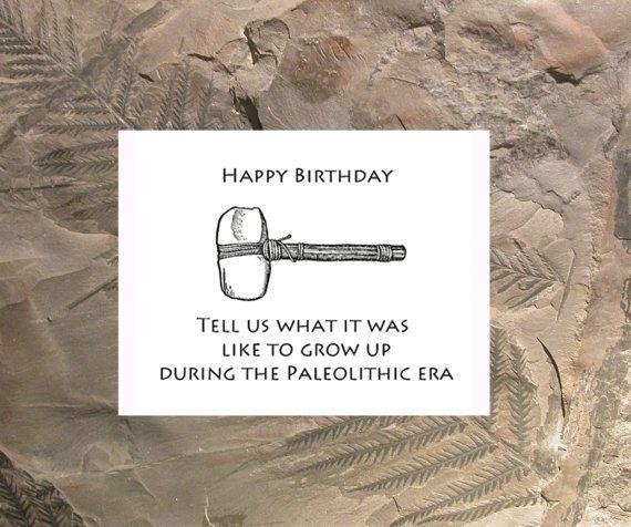 Prehistoric Humorous Birthday Card Funny Birthday Card Funny