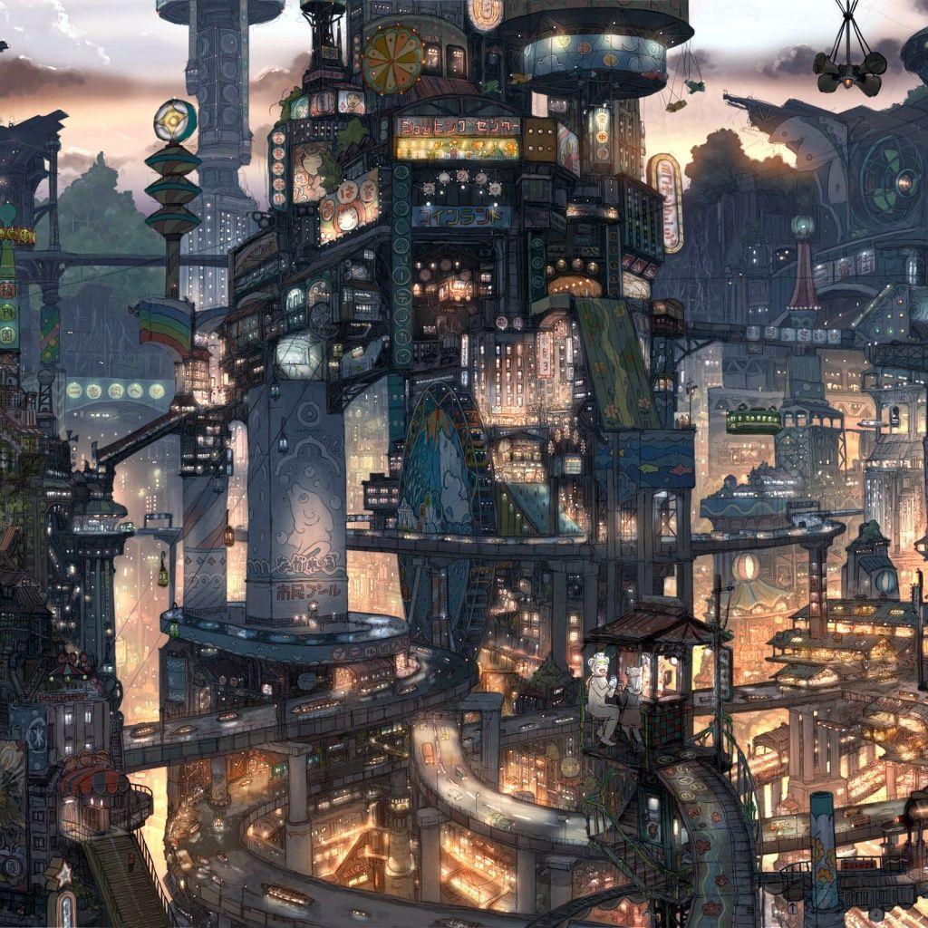 Gorgeous Blade Runner Style City Illustration