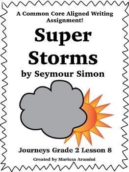 Super Storms-Journeys Grade 2-Lesson 8 | TpT Language Arts Lessons