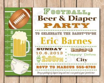 Sht Man Shower Funny Beer Diaper Party Man Shower Invitation