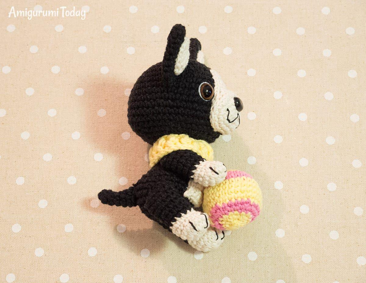 49dd1def3f3 Amigurumi Boston Terrier Puppy crochet pattern
