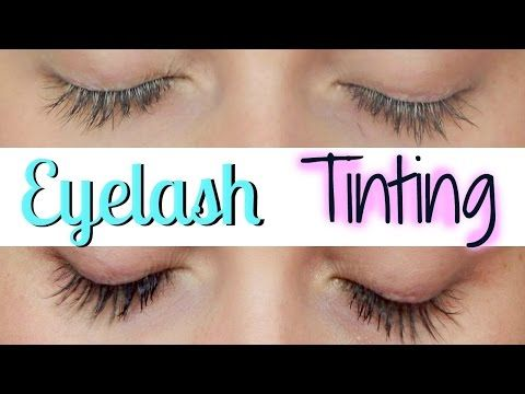 5983add7b11 EYELASH TINTING AT HOME - YouTube TIP take a cotton pad, cut it to the size  of your eye, wet it, and lather the back with Vaseline! So easy!