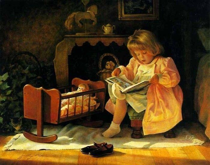 Картинки, чтение открытки