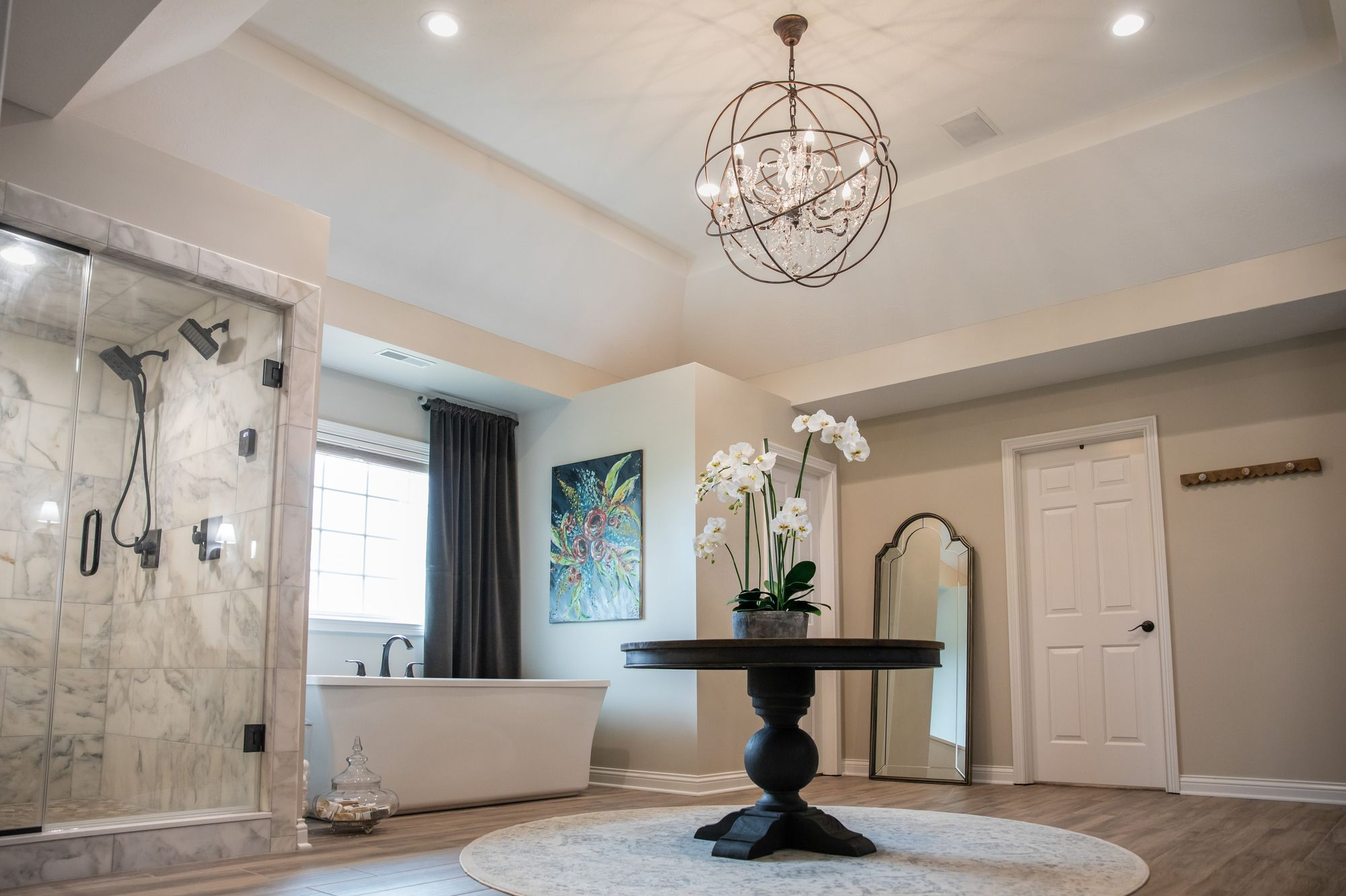 Elegant And Spacious Master Bath Complete With A Custom Steam