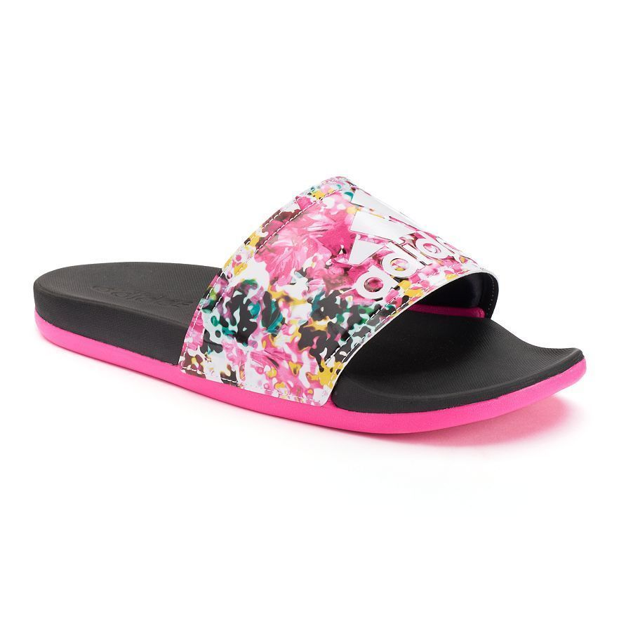 Pin By Ajya Jackson On Steppin ☑ Adidas Sandals Floral