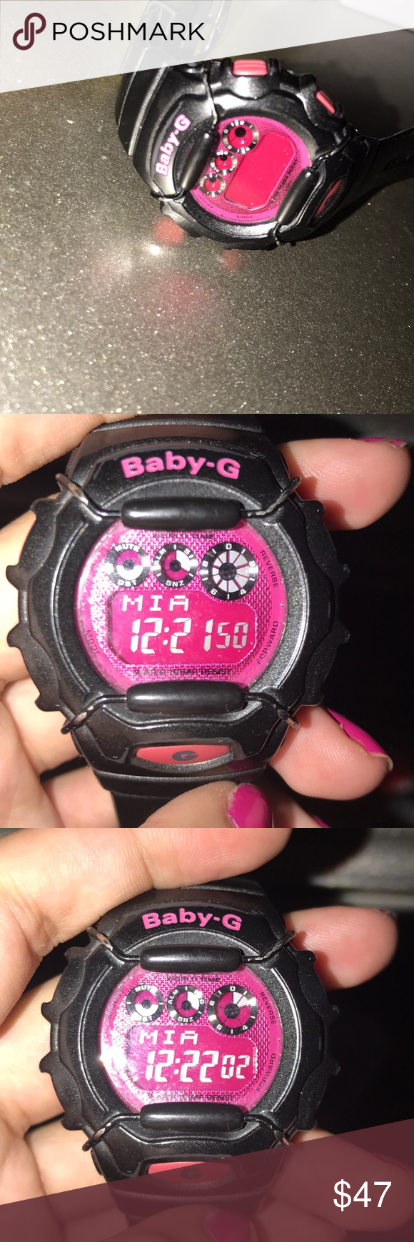 6c2d38abba Black and PINK baby g-shock Worn couple times Small scratch G-Shock ...
