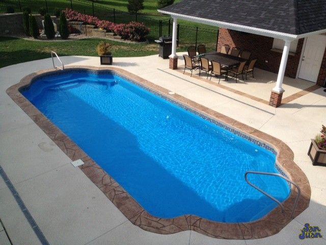 Get This Phoenix San Juan Fiberglass In Ground Pool At Backyard