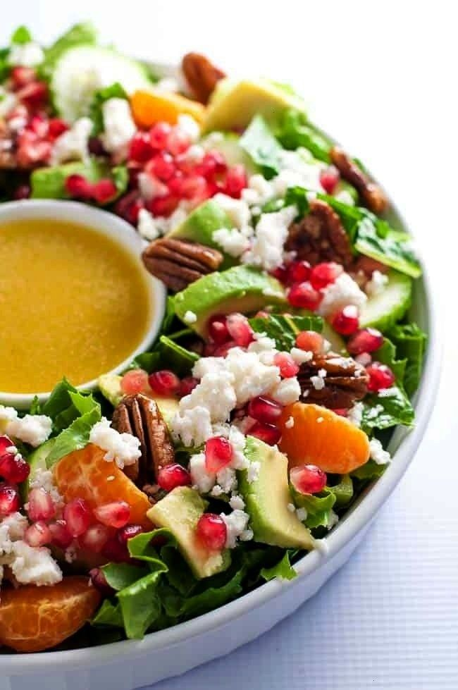 Mandarin Salad with Avocado and Feta Pomegranate Mandarin Salad with Avocado and Feta saladsPomegra