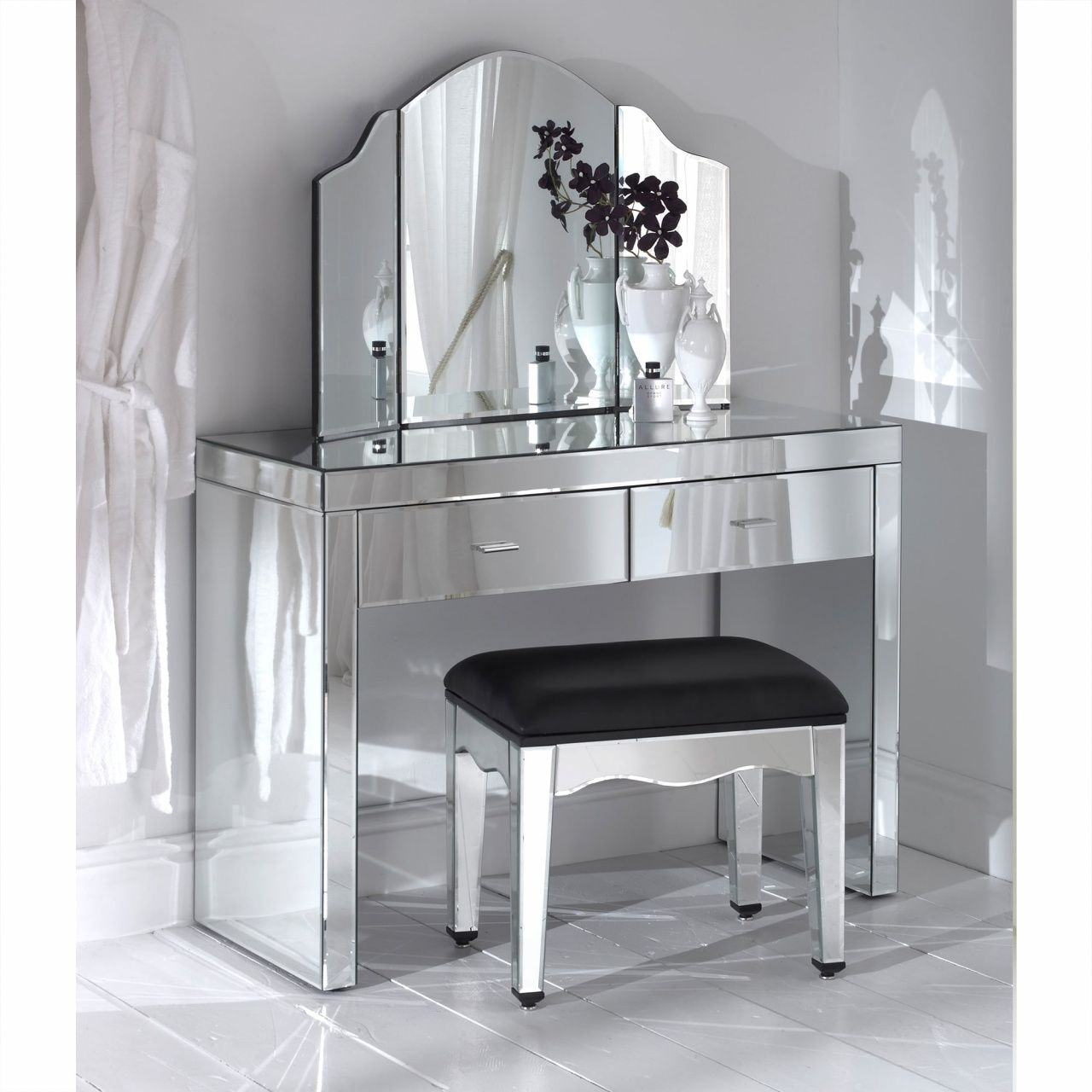 Glass mirror vanity table rustic home office furniture check more