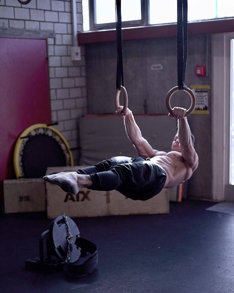 Rings Front Lever Calisthenics Street Workout Gym Photography