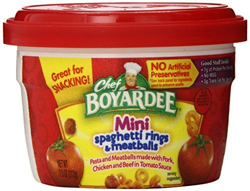 Chef Boyardee Mini Bites Spaghetti Rings With Meatballs 7 5 Ounce Microwavable Bowls Pack Of 12 Chef Boyardee Http Www A Chef Boyardee Mini Meatballs Chef