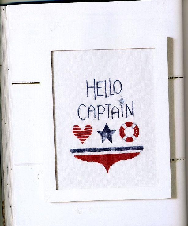 cross stitch - hello captain