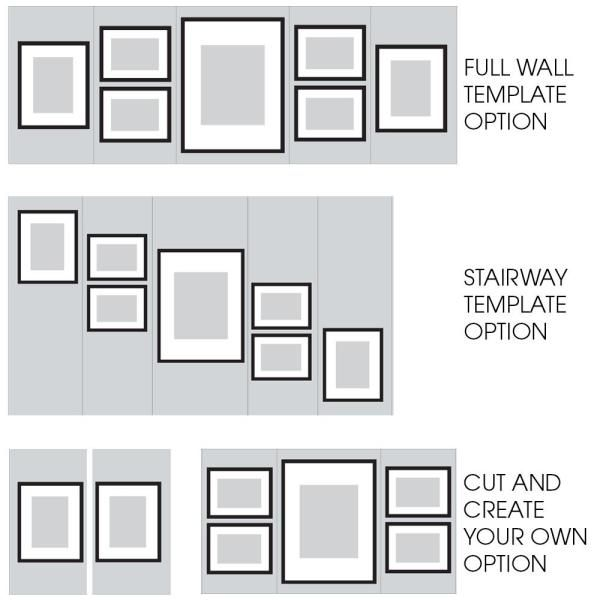 Pinnacle Gallery 4 In X 6 In 5 In X 7 In 8 In X 10 In Graywash Picture Frame Set Of 7 17fw2315 The Home Depot In 2020 Gallery Wall Frames Photo Wall Gallery Gallery Wall Template