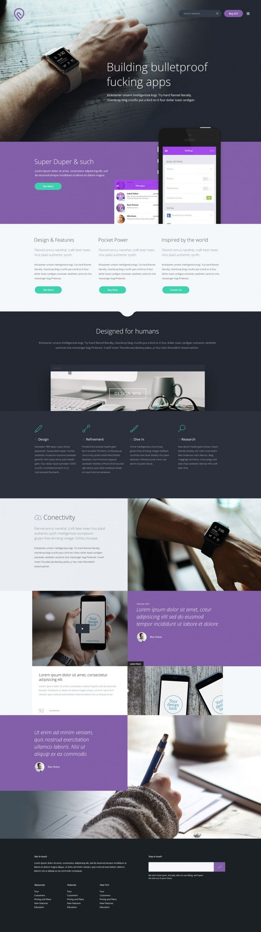Tork is free one page landing page template that suitable for a tech ...