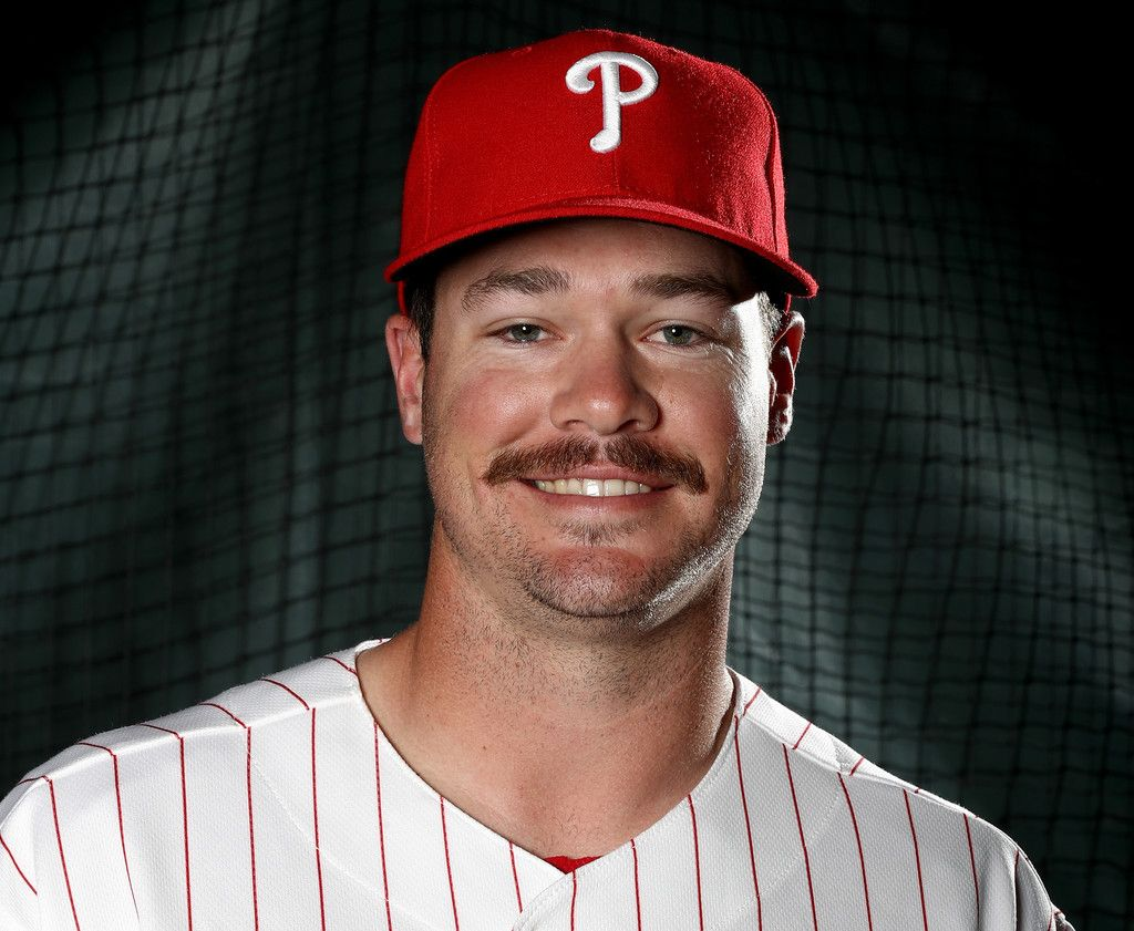 Andrew Knapp #64 of the Philadelphia Phillies poses for a portrait during the Philadelphia Phillies photo day on February 20, 2017 at Spectrum Field in Clearwater,Florida.