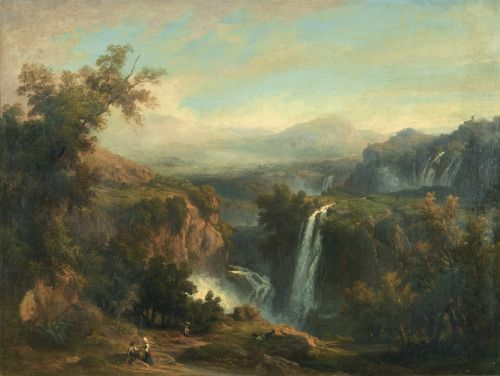 Waterfalls at Tivoli, 1861, Franz Knebel the Younger