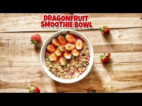 How To Make A Dragonfruit Smoothie Bowl Minuman Smoothies Buah Naga Resep Makanan