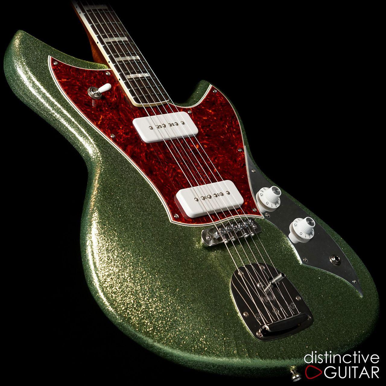 Novo Serus J Coke Bottle Green Sparkle Guitar Beautiful Guitars Guitar Inlay