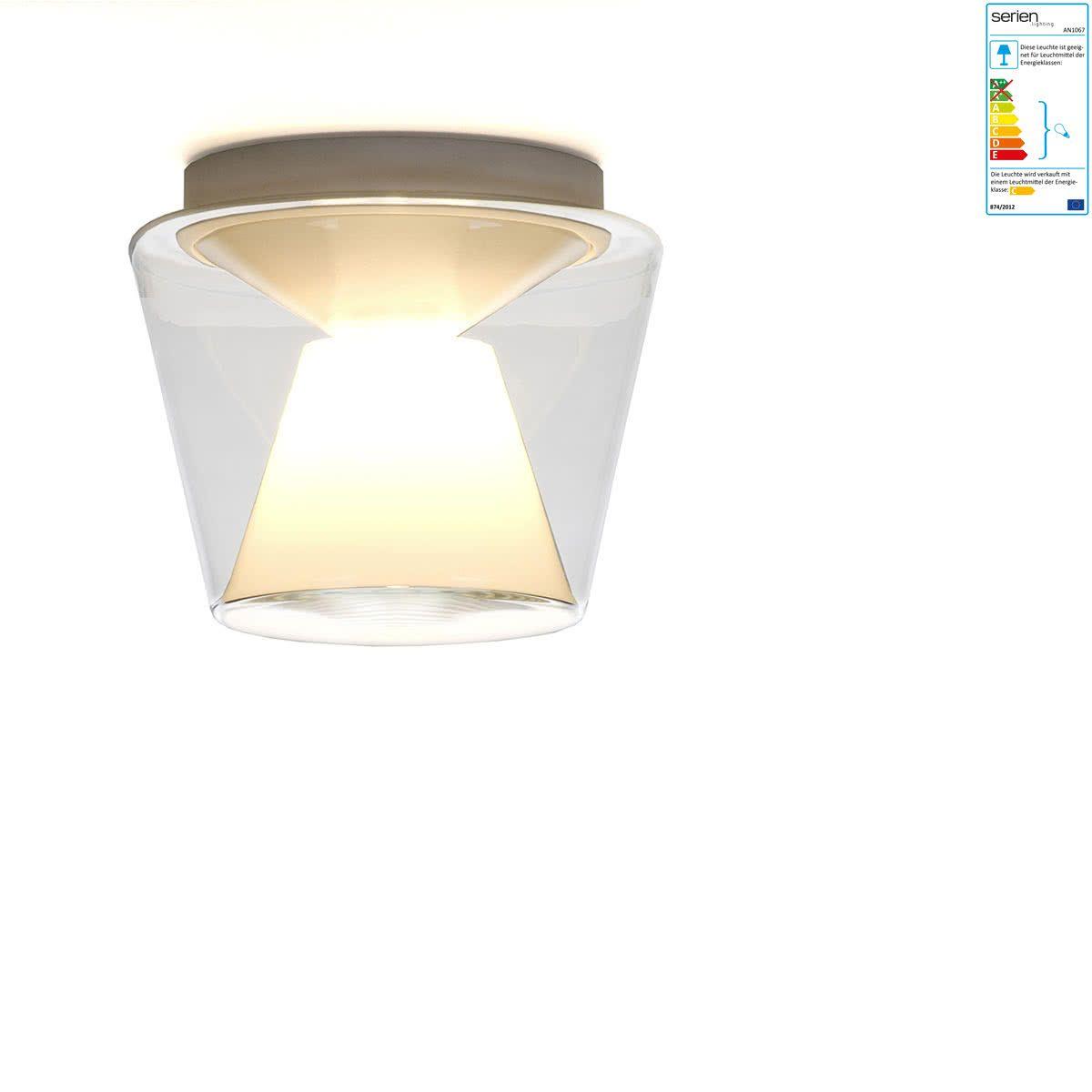 Besondere Deckenlen serien lighting annex deckenleuchte klein glasschirm klar