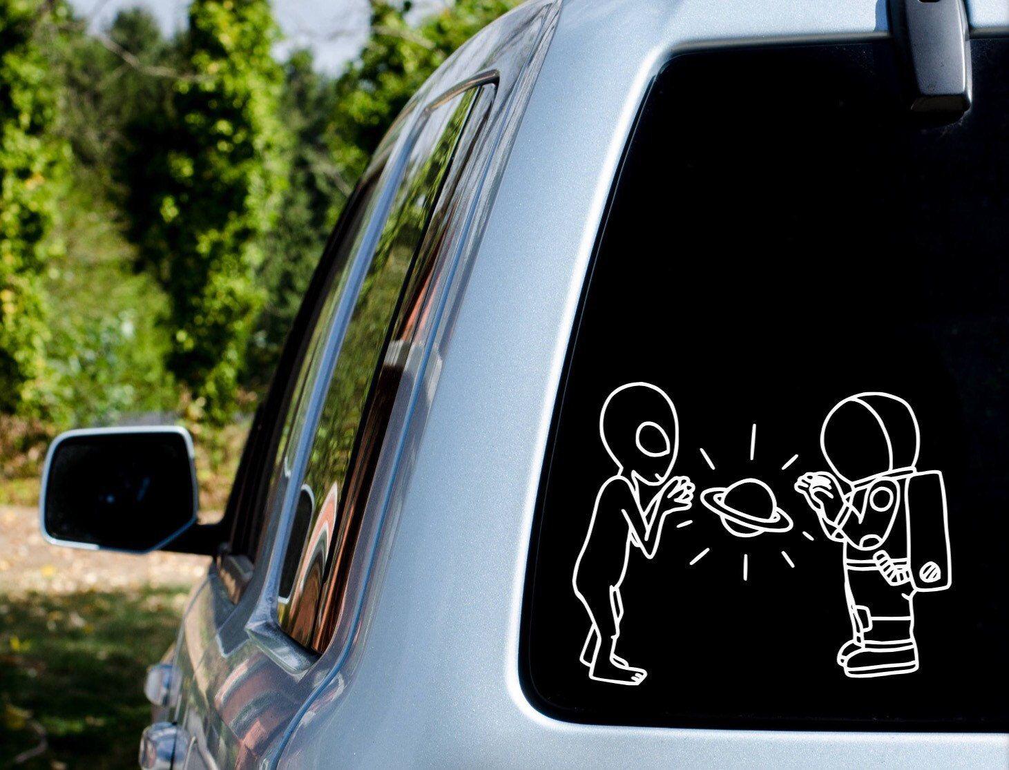 Astronaut Vs Alien Astronaut Alien Space Galaxy Car Decal Decal Car Sticker Sticker Holographic Galaxy Car Vinyl Decal Stickers Car Stickers [ 1115 x 1461 Pixel ]